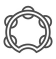 tambourine line icon musical and instrument vector image vector image