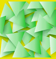 the green colored abstract polygonal geometric vector image