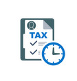 time to pay tax - accounting reminder icon with vector image