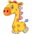 Toy giraffe vector image vector image