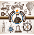 Transport and nautical set vector image vector image