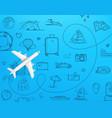 travel destination top view design template vector image