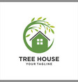 tree house logo template design vector image vector image