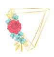 triangle rose wedding birthday holiday party vector image vector image