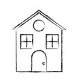 uncolored house vector image