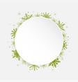 white circle snowflakes new year christmas frame vector image vector image