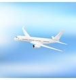 white plane isolated vector image vector image