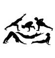 women yoga vector image vector image