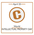 world intellectual property day vector image vector image