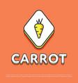carrot colour icon in line design vector image