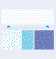 a set of seamless of raindrops vector image