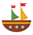 a semi-circular brown boat or color vector image vector image