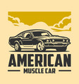 american muscle car graphic design isolated vector image