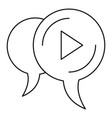 audio chat bubble icon outline style vector image