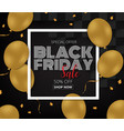 black friday sale promotion poster with gold vector image vector image