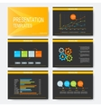 Black yellow set of templates for vector image vector image