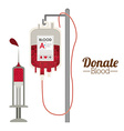 Blood donation design vector image vector image