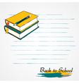 books pencil vector image vector image