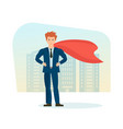 businessman is superhero in business clothes vector image