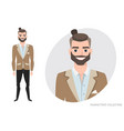 businessman with beard in formal suit vector image vector image