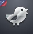 chicken Bird icon symbol 3D style Trendy modern vector image