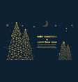 christmas tree with stars and sparkles background vector image
