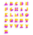 colorful geometric font design abstract modern vector image vector image