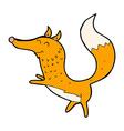 comic cartoon happy fox vector image vector image