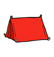 comic cartoon traditional tent vector image