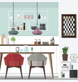 cool dining room design vector image vector image