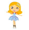 Cute ballet dancer girl vector image