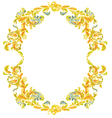 Decorative round frame ornamental floral vintage vector image vector image