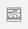 dishwasher thin line concept icon or symbol vector image