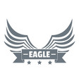 eagle wing logo simple gray style vector image vector image