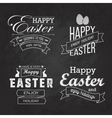 easter label set on blackboard vector image vector image