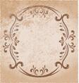 elegant oval frame vector image vector image