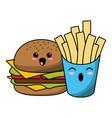 fast food kawaii cartoon vector image vector image