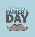 fathers day design over blue background vector image vector image