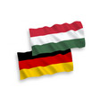 flags hungary and germany on a white background vector image