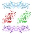 floral decorative ornaments flower branch vector image vector image