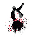 Grunge rapper vector image vector image