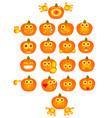 halloween pumpkins as jack olantern vector image vector image