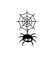 halloween spooky spider icon vector image vector image