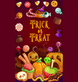 halloween sweets chocolate caramel snack treats vector image vector image