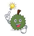 have an idea durian mascot cartoon style vector image vector image