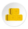 Hay bundles icon circle vector image