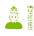 Head Shower Icon With Free Bonus vector image vector image