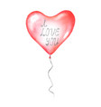 i love you calligraphy lettering on flying balloon vector image vector image