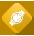 icon of Watch with a long shadow vector image vector image