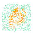 icon tiger icon in nature vector image